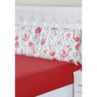 Jogo De Lençol Bia Enxovais Queen Malha 100% Algodão 3 Peças - Flamingo