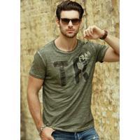 Camiseta Slim Fit - Verde