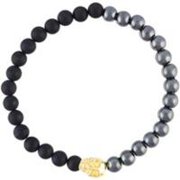 Nialaya Jewelry Pulseira De Hematita E Ônix - Preto