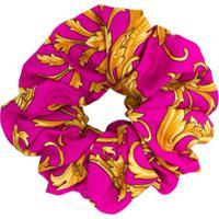 Versace Scrunchie Com Estampa Barroca - Rosa