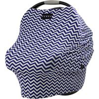 Capa Multifuncional Dori Chevron Azul Marinho E Branco Penka Cover