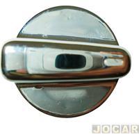 Botão Do Ar - Gol 2000 Até 2008 - Laranja - Longo - Cromado - Cada (Unidade)