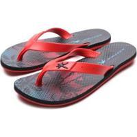 Chinelos Kenner Summer Hawaii - Masculino-Vermelho