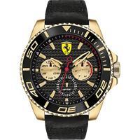 Relógio Scuderia Ferrari Masculino Couro Preto - 830419
