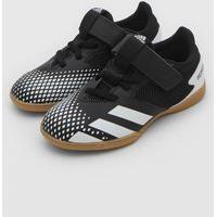 Chuteira Adidas Performance Infantil Predator 20.4 H&L In Salão J Men Preto/Branco