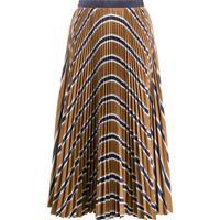 Sacai Striped Pleated Skirt - Neutro