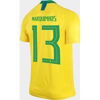 cca476679c Camisa Seleção Brasil I 2018 Nº 13 Marquinhos - Torcedor Nike Masculina -  Masculino