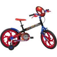 Bicicleta Infantil Caloi Spider Man Aro 16 - Unissex