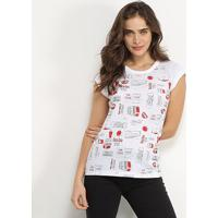 Camiseta Coca-Cola Pop Feminina - Feminino-Branco