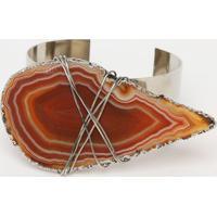Bracelete Com Fechamento - Marrom & Prateado - 4X21Cpop Up