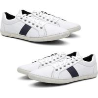 Kit 2 Pares Sapatênis Padinne Casual Confort Masculino - Masculino-Gelo