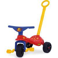 Triciclo Cachorrinho Com Empurrador Vermelho Xalingo