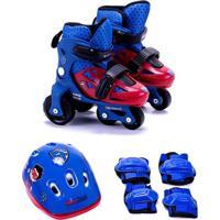 Kit Patins Infantil 31 Ao 34 Super Flyer Unik Toys