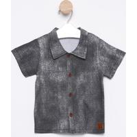 Camisa Com Botões & Tag - Pretahrradinhos