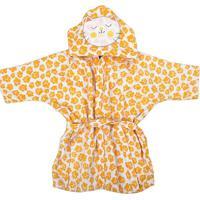 Roupão C/ Capuz Bebê Amarelo - Incomfral