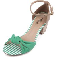 Sandália Trivalle Shoes Verde Com Laço