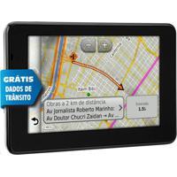 Gps Automotivo Garmin Nuvi 3560Lt 5 3D Dados De Trânsito Ao Vivo E Avisa Radar Preto