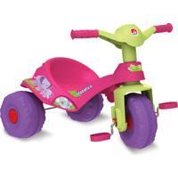 Triciclo Mototico Andador & Pedal Rosa Bandeirante