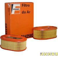 Filtro De Ar Do Motor - Fram - Fusca 1980 Até 1997 - Carb. Duplo - Brasília - Álcool - 1980 Até 1982 - Carb. Duplo - Par - Ca4258C