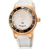 f5390af4694 Netshoes  Relógio Pulso Everlast Pulseira Silicone E579 - Feminino-Branco
