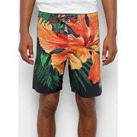Boardshort Wg Realflex Big Floral Masculina - Masculino-Laranja