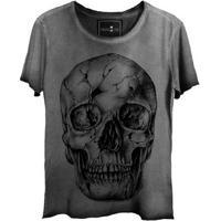 Camiseta Estonada Corte A Fio Skull Fantasy