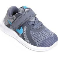 Tênis Infantil Nike Revolution 4 Btv - Masculino-Cinza+Azul