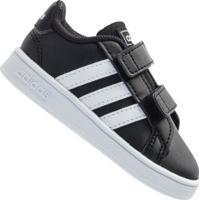 Tênis Infantil Adidas Grand Court - Preto/Branco