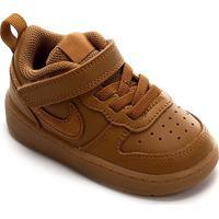 Tênis Infantil Nike Court Borough Low 2 - Masculino-Marrom