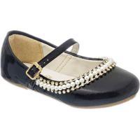 Sapato Boneca Com Strass - Preto- Luluzinhaluluzinha