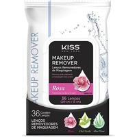 Lenço Demaquilante Kiss New York Makeup Remover Tissue Rose 36 Unidades - Feminino-Incolor