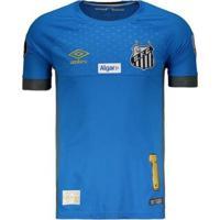 Camisa Umbro Santos Goleiro 2018 N°1 Vanderlei Libertadores Masculina - Masculino