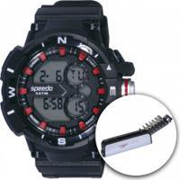 Relógio Digital Speedo 81093G0 Com Kit De Ferramentas - Masculino - Preto/Vermelho