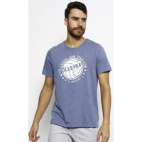 Camiseta M Indoor Volley Tee- Azul & Branca- Asicsasics