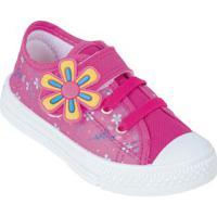Tênis Infantil Pink Em Tecido Com Velcro
