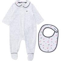 Emporio Armani Kids Pijama Com Logo - Cinza