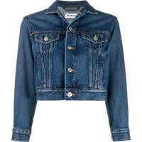 Balenciaga Jaqueta Jeans Cropped - Azul