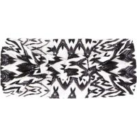 Missoni Headband De Tricô Abstrato - Branco