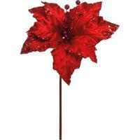 Flor Decorativa- Vermelha- 30X15X15Cm- Cromuscromus