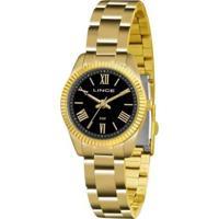 Relógio Feminino Lince Clássico Lrg4492L P3Kx - Unissex-Dourado