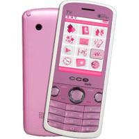 Celular Cce Mobi C10 Rosa - Dual Chip - Mp3 Player - Rádio Fm