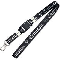 Chaveiro Cordão Script And Logo Preto Compton