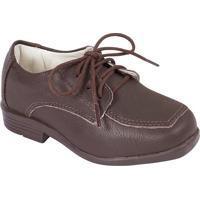 Sapato Tradicional Em Couro- Marrom Escurokimey