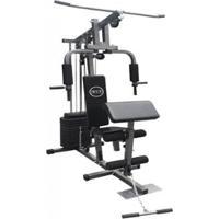 Estação De Musculação Com 80Kg Aparelho Ginástica Academia + Puxador Wct Fitness - Unissex