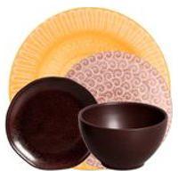 Jogo De Jantar De Ceramica Stone Oak Brisa De Verao Porto Brasil 24Pcs