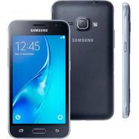 "Smartphone Samsung Galaxy J1 - Preto - 8Gb - 3G - 5Mp - Tela 4.3"" - Android 4.4"