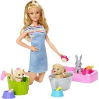 Barbie Banho De Cachorrinhos - Mattel - Tricae