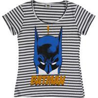 Blusa Manga Curta Batman Juvenil Para Menina - Azul