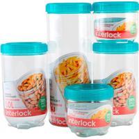 Kit Pote Plástico Lock Lock Com 5 Peças
