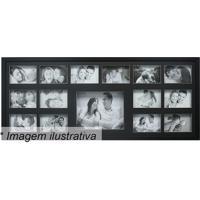 Painel Para 15 Fotos- Preto- 43X103X3Cm- Kaposkapos